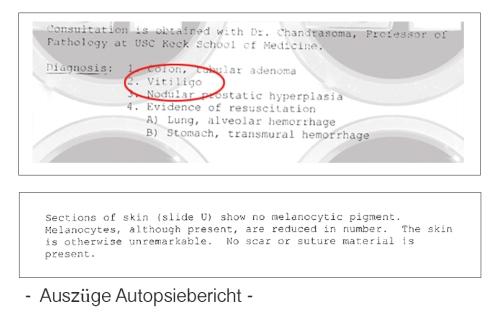 Autopsireport Vitiligo
