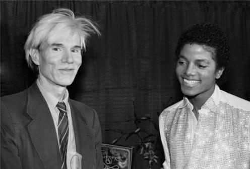 Michael Jackson & Andy Warhol, 1981