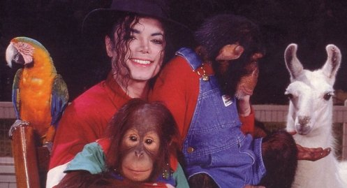 Michael with his animals