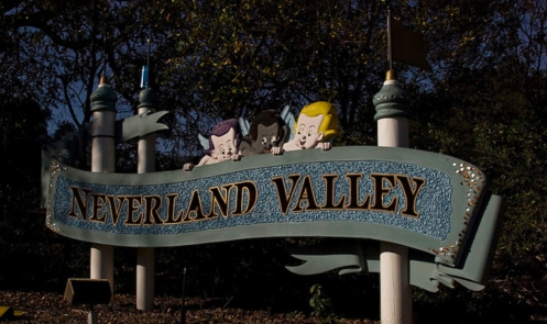 Neverland Sign by Night