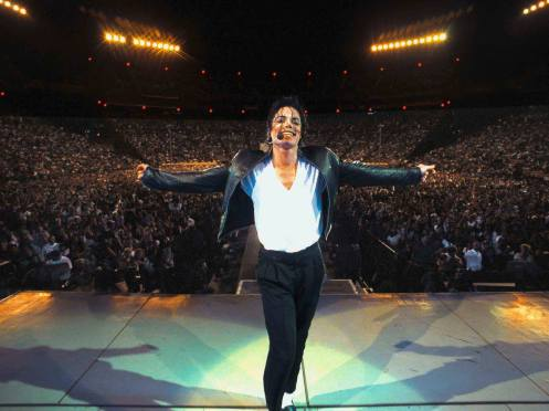Michael Jackson on stage