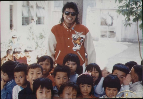 Michael with Kids Bad tour
