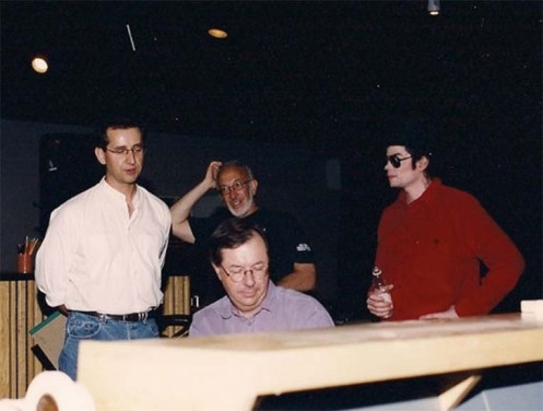 Nicholas Pike im Studio with MJ