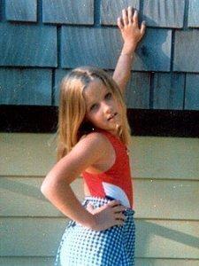 Lisa im Alter von 7 Jahren, als sie einen bleibenden Eindruck auf einen damals 17-jährigen Michael gemacht hatte