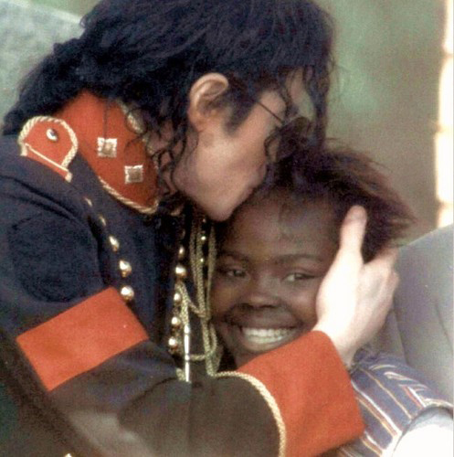 Michael with child