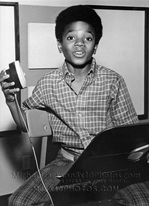 little michael in recording studio