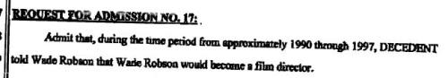Wade Robson Klageschrift Punkt 17