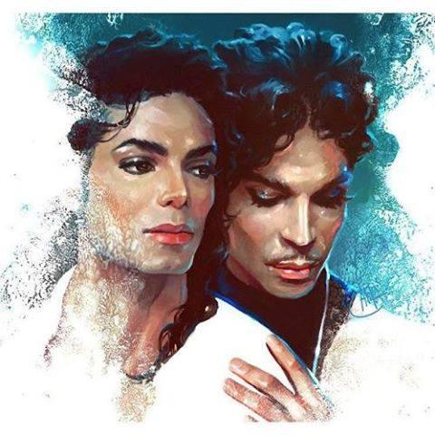 Michael und Prince Gemälde
