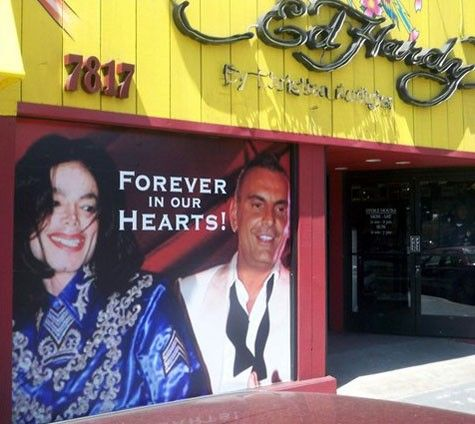 tribute at the Ed Hardy store in Hollywood Los Angeles