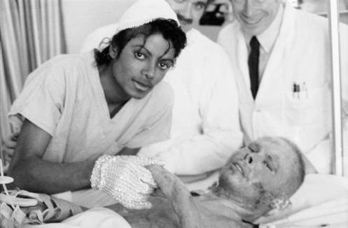 Michael at Brotman Burn Center 1984