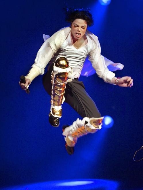 US singer Michael Jackson performs during the Demo