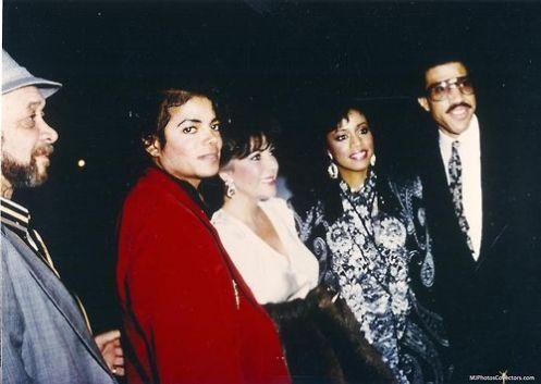 Bill Bray, Michael Jackson, Liz Taylor, Brenda Harvey Richie, Lionel Richie