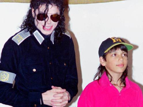 Michael Jackson and Brett Barnes